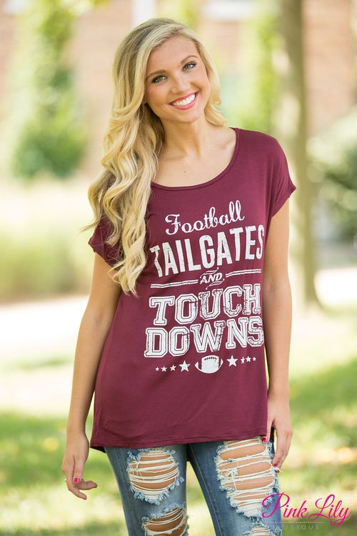 Football season is here - and you absolutely have to have one of our  statement tees to show your love of the season! This adorable lightweight  tee is such a ... 34c5c6247