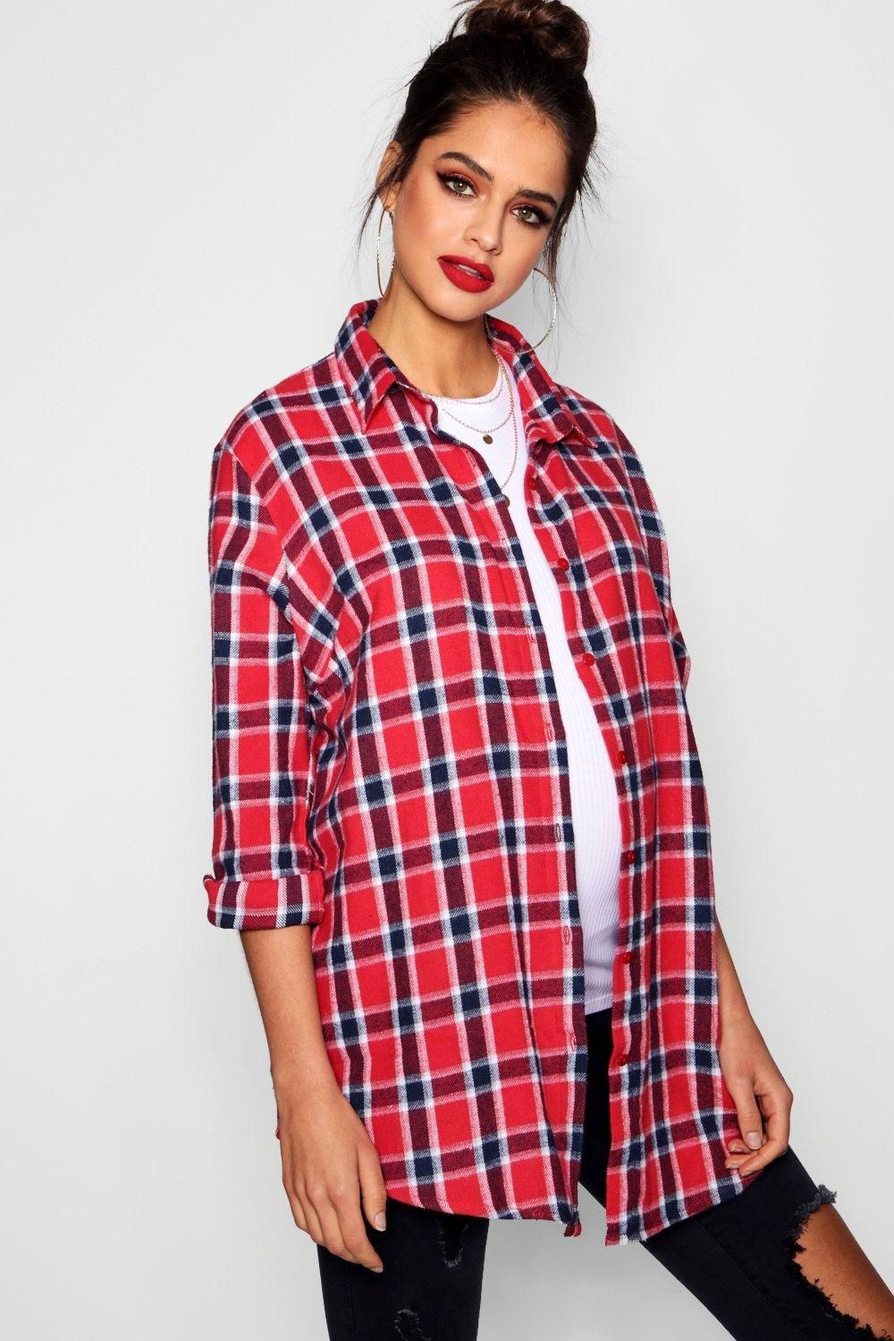 Maternity Flannel Shirt Boohoo Casual Maternity Outfits New Girl Outfits Womens Maternity
