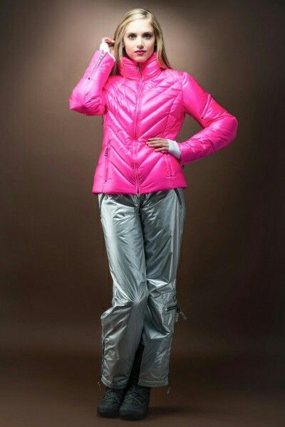 Metallic Silver Ski Coat