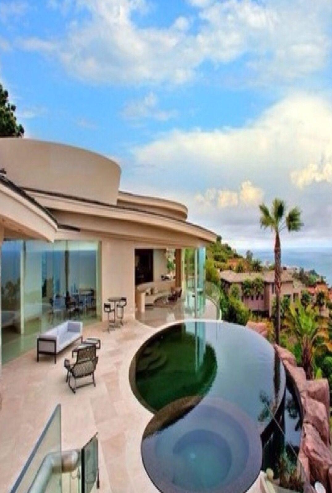 luxury homes with pools idg pools beach spa pinterest. Black Bedroom Furniture Sets. Home Design Ideas