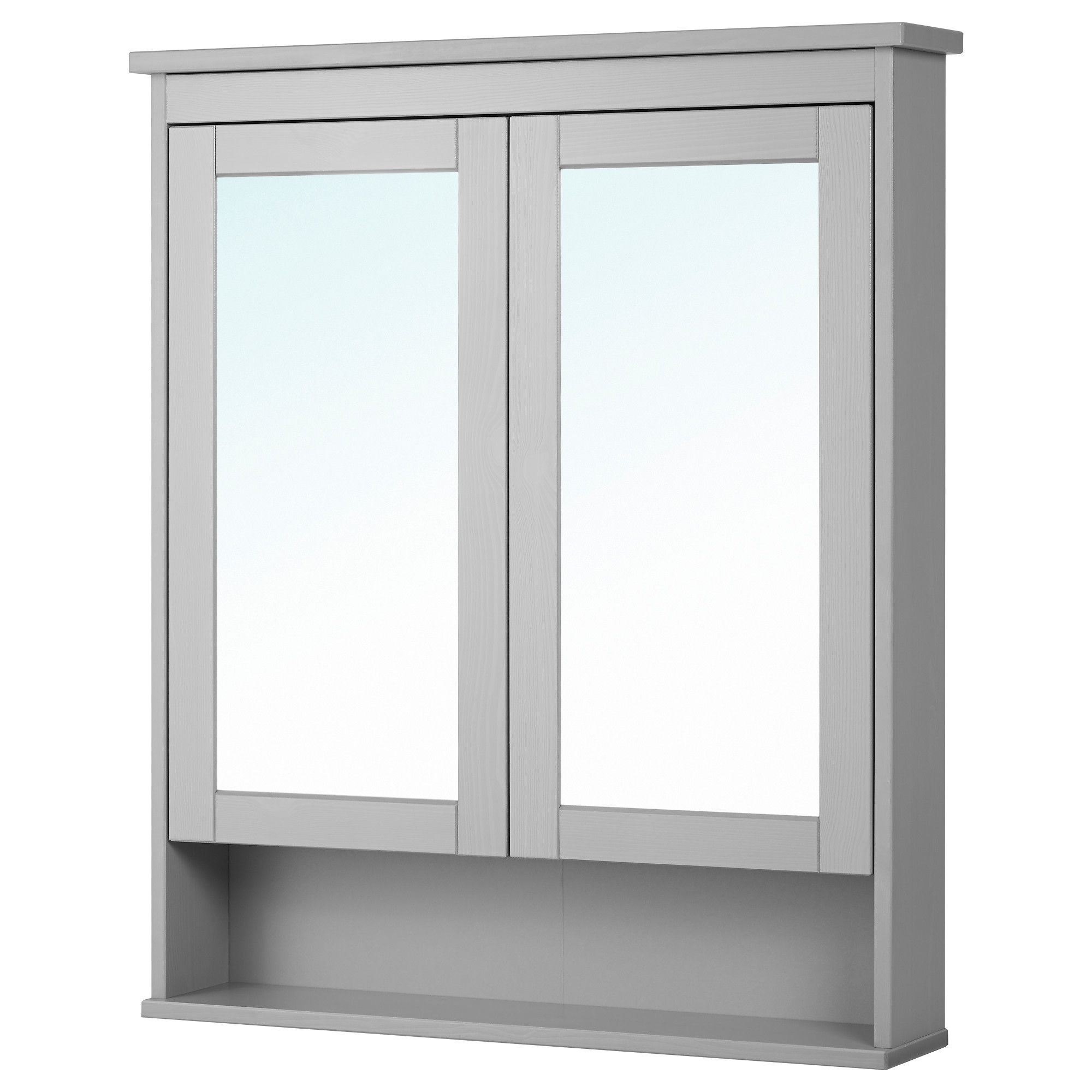 HEMNES, Spiegelschrank 2 Türen, grau Jetzt bestellen unter: https ...