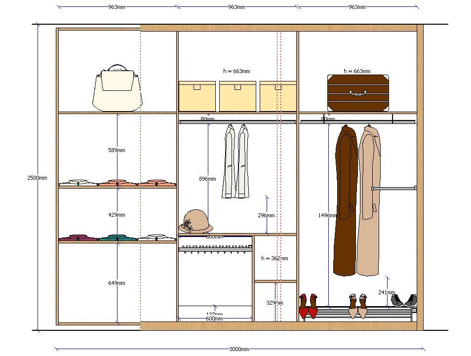 Closet elevation 2 rangements pinterest alzado - Revestir armario empotrado ...