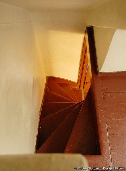 Narrow staircase Poe house in Baltimore