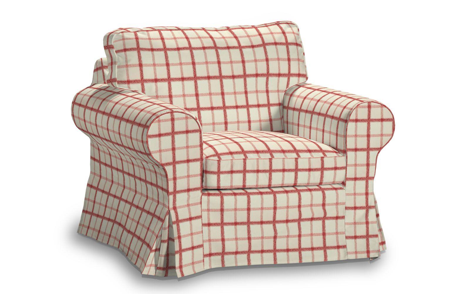bezug in paris rot kariert f r den ikea ektorp sessel armchair