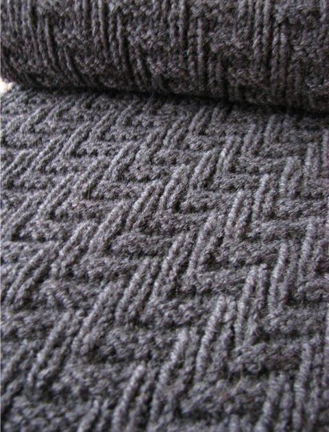 Here Is An Easy Knitting Pattern That Is Perfect For A Man's Scarf Interesting Easy Knit Patterns