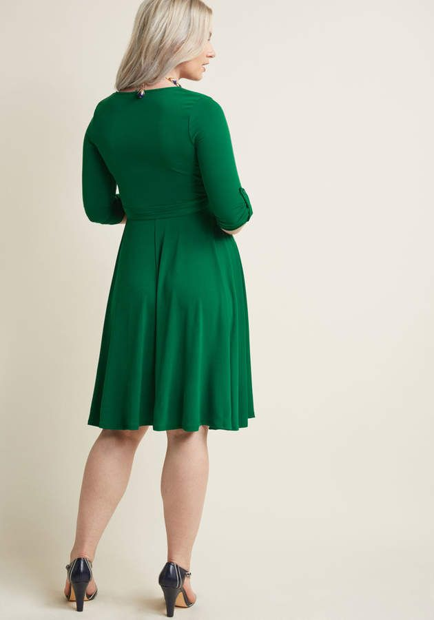 f3800d85390ed Say Yes to Timeless Wrap Dress in Clover in 2018