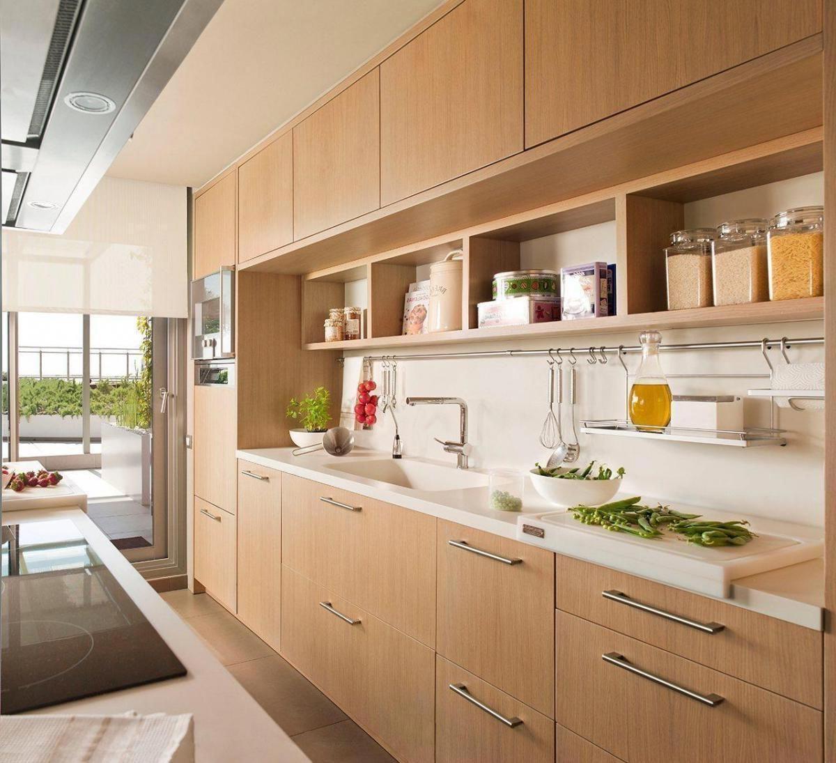 An Asianstyle room Wooden kitchen Modern
