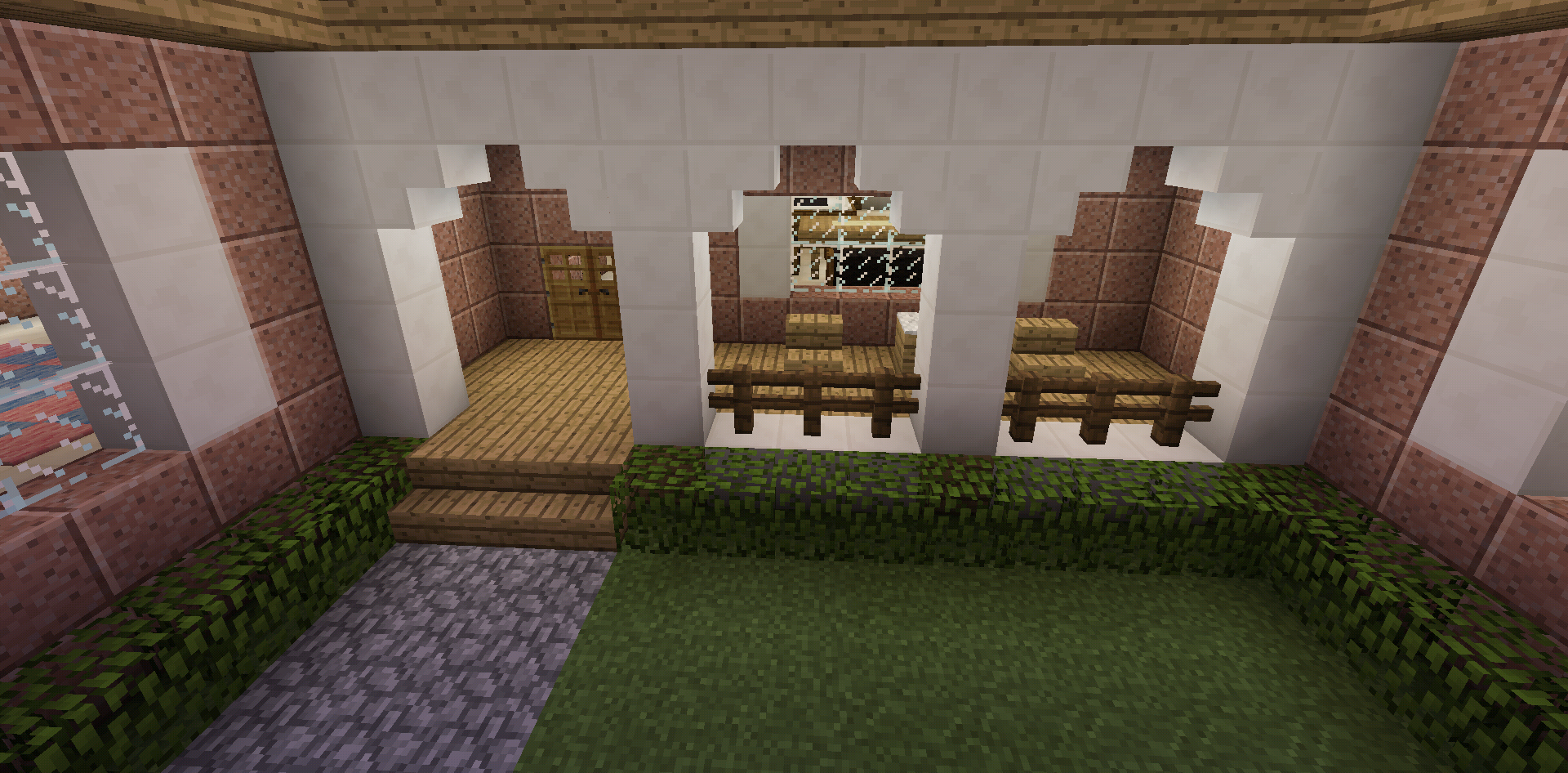 Minecraft House Front Porch With Furniture Minecraft Room Minecraft Houses Minecraft Decorations
