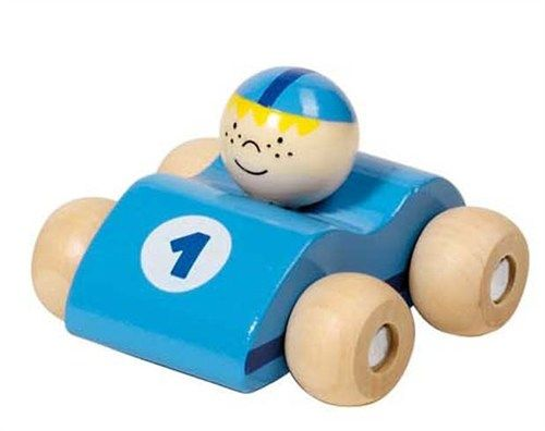 petite voiture bleu clair en bois goki gollnest kiesel b b petit pom petites. Black Bedroom Furniture Sets. Home Design Ideas