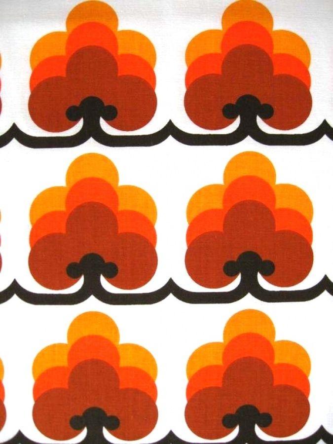 70er Jahre Stoff 70er Jahre Stoffe Vintage Stoffe Gardinen