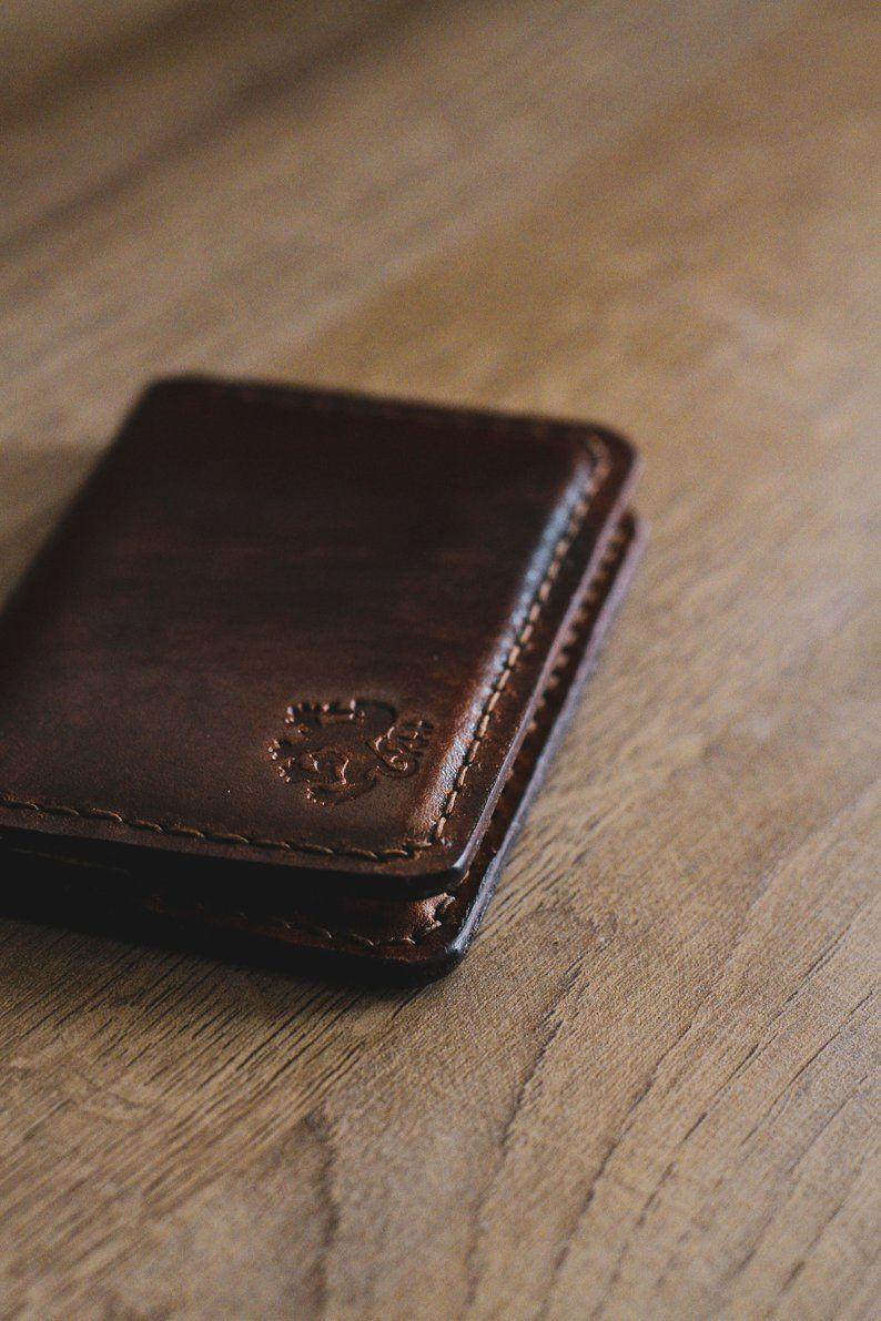 Business card case mens leather wallet credit card