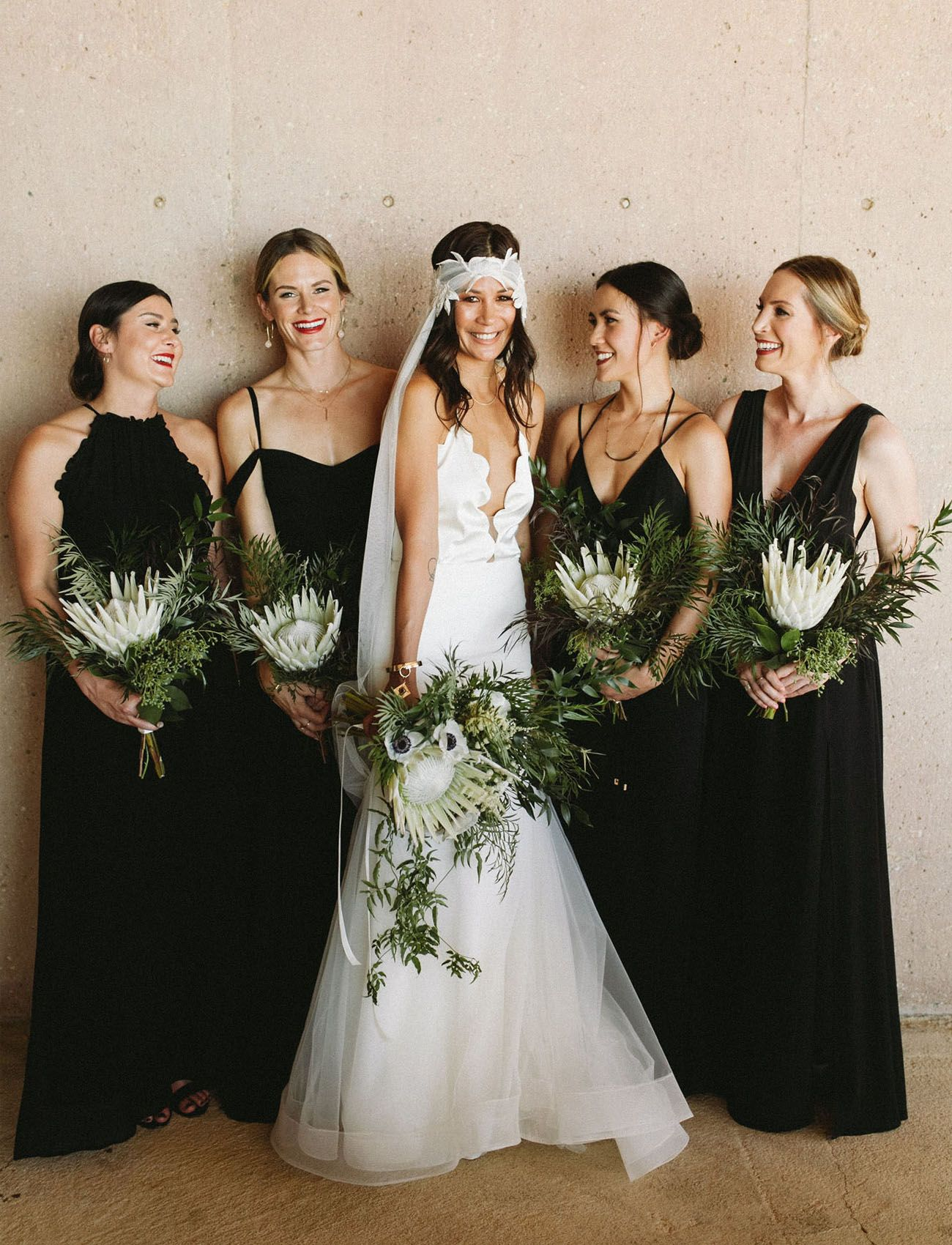 Strikingly Modern Minimal Wedding High Above Malibu Green Wedding Shoes Alternative Bridesmaid Black Bridesmaid Dresses Bridesmaid [ 1700 x 1300 Pixel ]