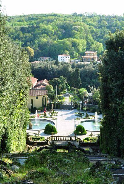 Five-storey Villa Garzoni in Collodi, Italy - 65km from Florence, well known as 'Pinocchio's villa'