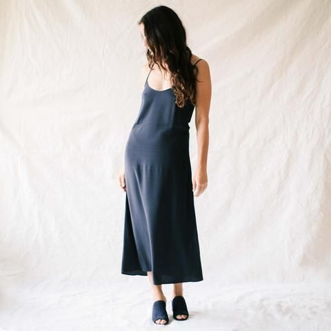 ee2dd671e946 Jesse Kamm Slip Dress in Navy- General Store | General Store ...