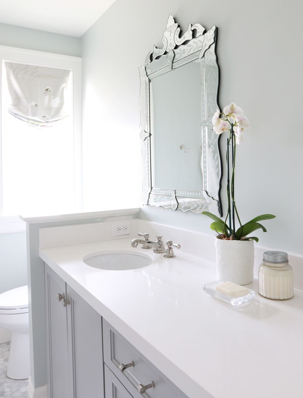 The Midway House Guest Bathroom Pinterest Studio Mcgee - 2 carrara marble hexagon floors