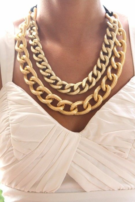 gold + chain + necklace