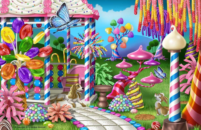 Giochi Da Fare In Giardino fantasy candy garden and gazebo made with photo-realistic