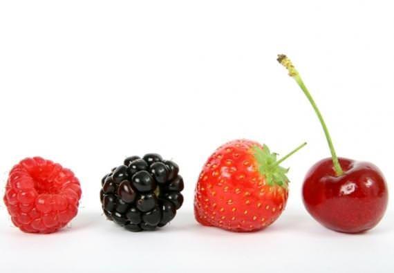 Suco de frutas vermelhas para longevidade e dispos
