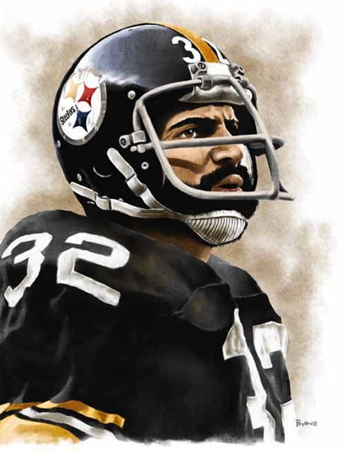 Franco Harris Pittsburgh Steelers by James Byrne  14d8516ff