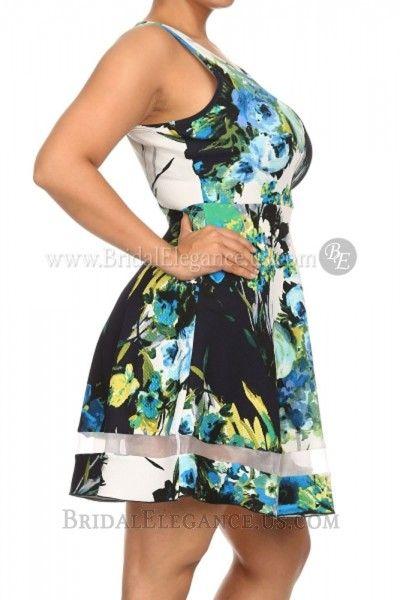 $36.00 | Plus-Sized Floral Dress 222762 | BE Boutique #graduationdress
