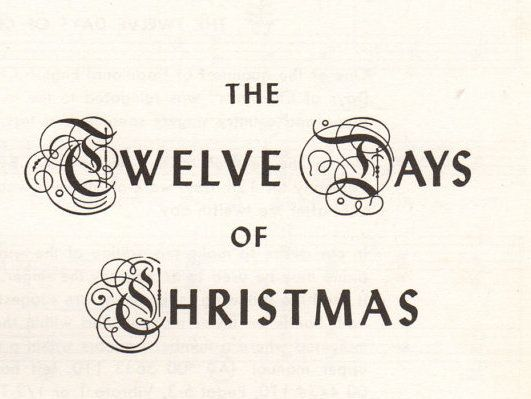 Although to most, the Twelve Days of Christmas is simply a December song, there are actually twelve days historically/religiously celebrated. This features festivities lasting twelve days long from...