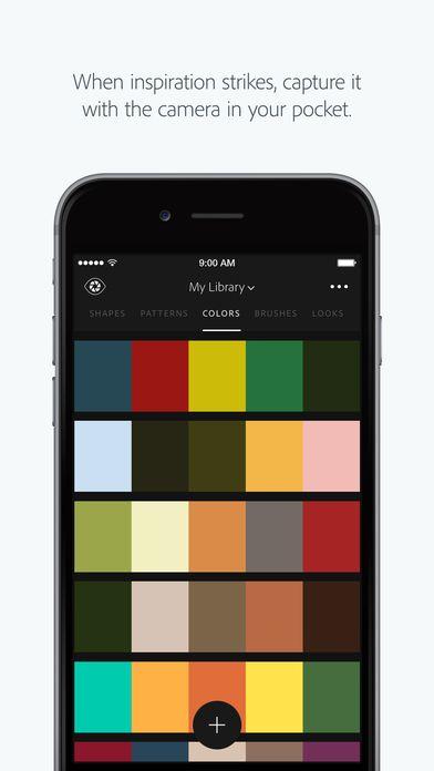 Adobe Capture App lets you create colour palettes based on