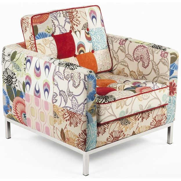 Control Brand FF081PATCHF The Draper Lounge Chair in Patchwork