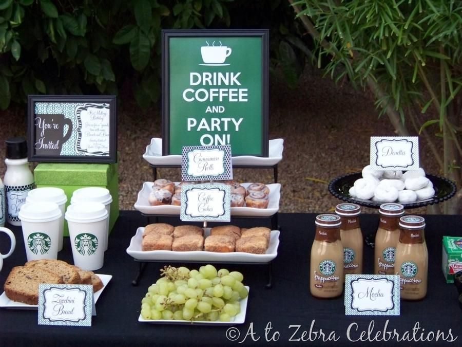Starbucks/coffee themed brunch/party Seriously, if someone