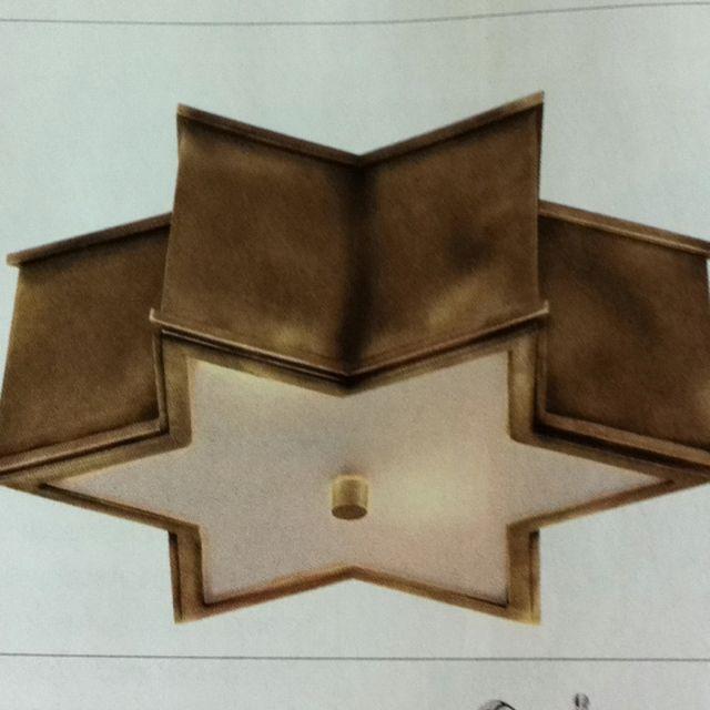 Sophia flush mount in brass...circa lighting