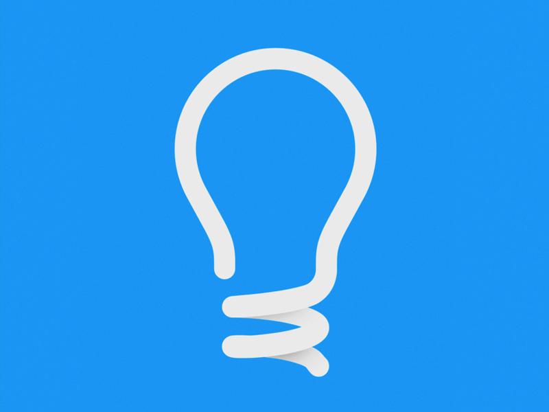 Icon Logo Light bulb logo, Minimalist logo design, Logo