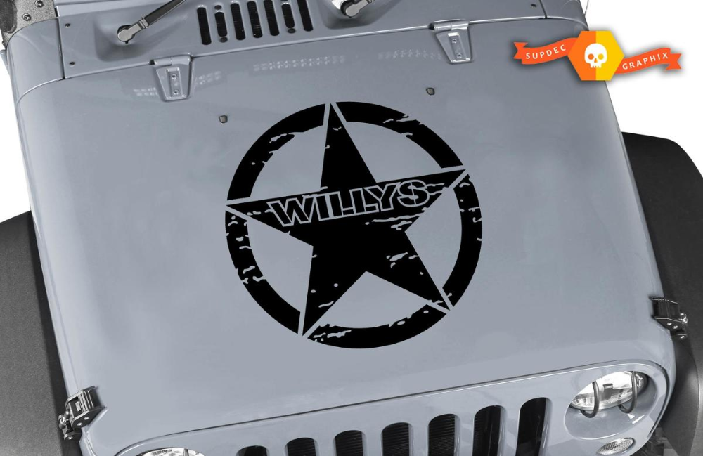 Product Willys Jeep Hood Decal 20 Willys Jeep Hood Sticker