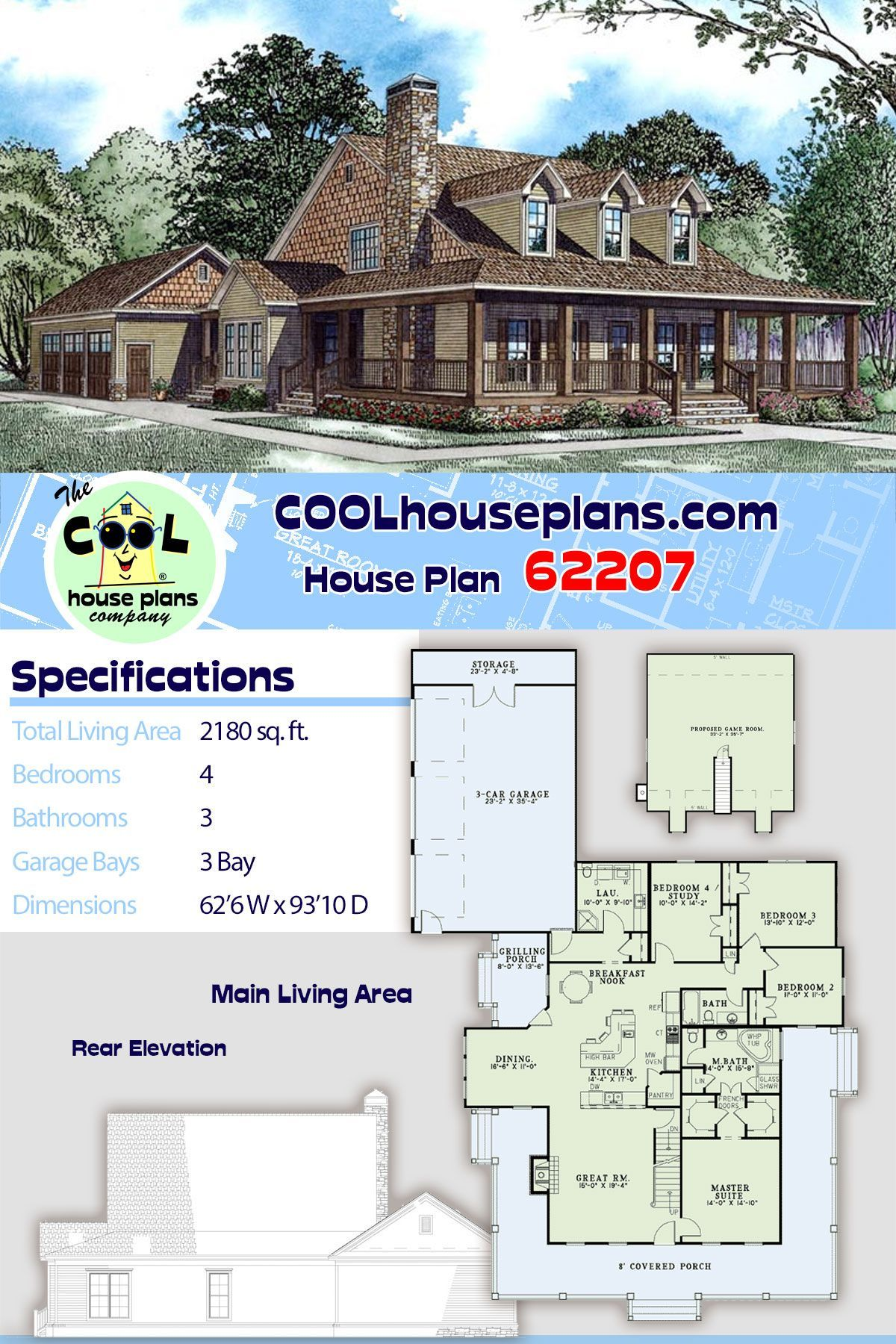 4 bedroom farmhouse plans with wrap around porch