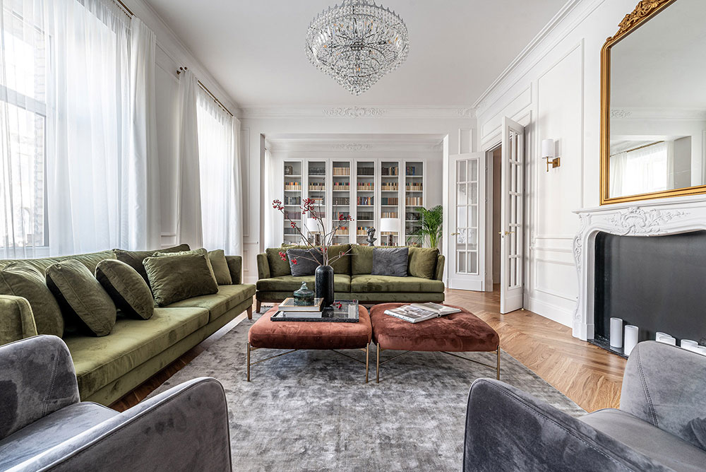 Photo of 〚 Bright modern apartment with classic details in Vilnius 〛