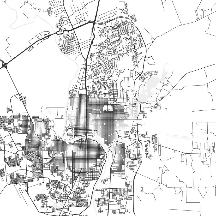 Laredo Texas Area Map Light