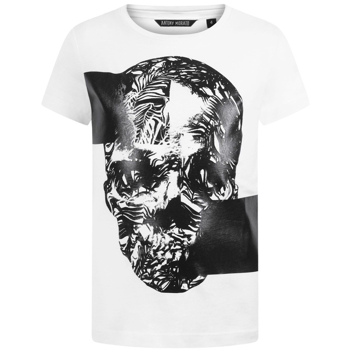 5aff4942 Antony Morato Boys White Skull Print Top | Antony Morato SS16 | Boys ...