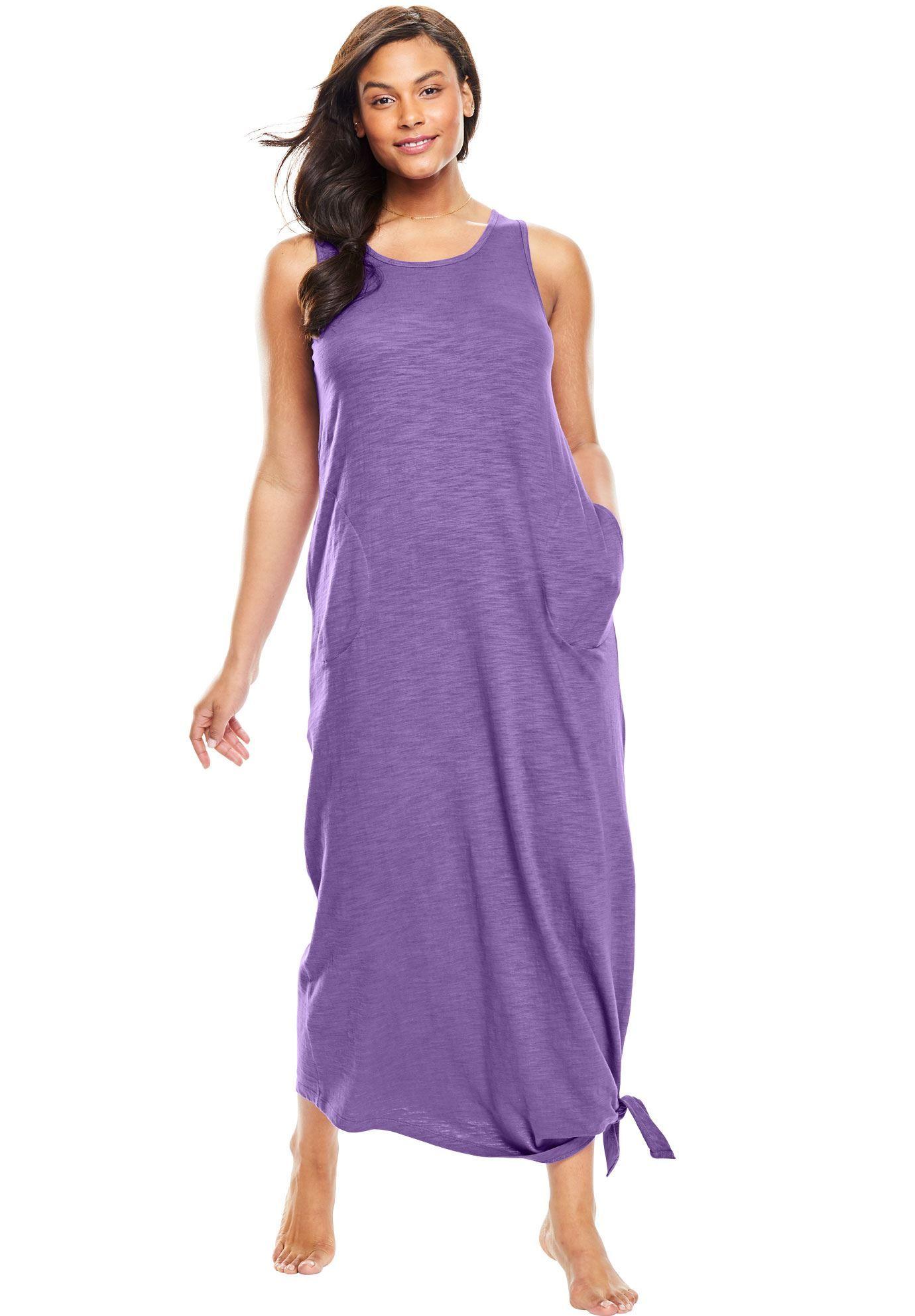 Long Sleeveless Lounger by Dreams & Co. - Women\'s Plus Size ...