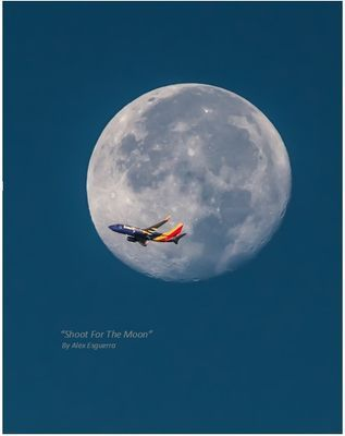 Shoot For The Moon Southwest Air Airplane Art Southwest Airlines