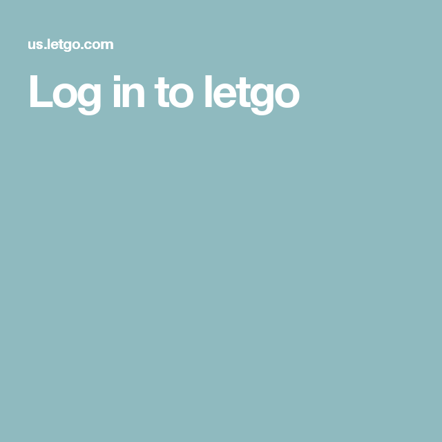 Log in to letgo The unit, Buy and sell, United states