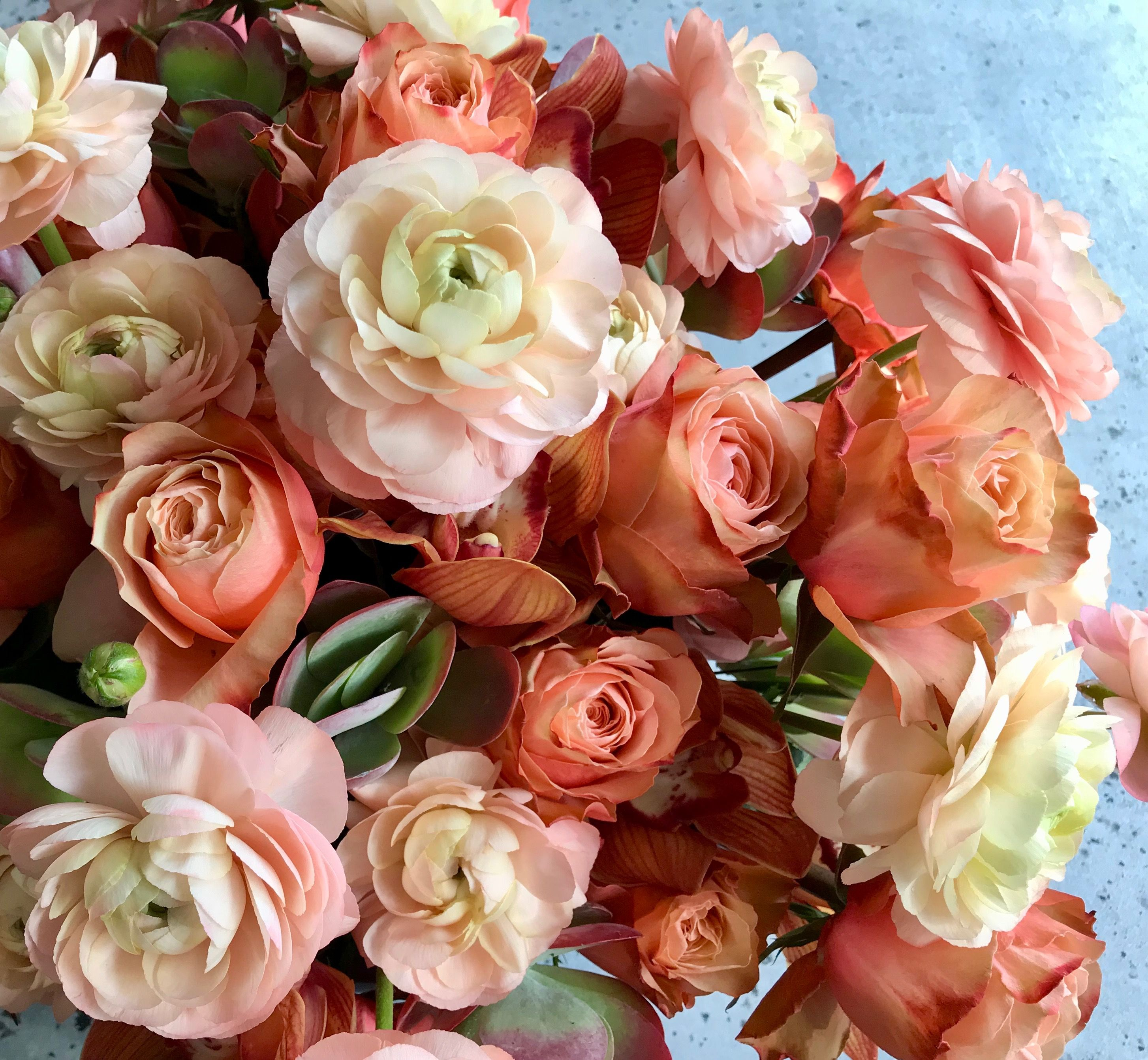 Peach and Terracotta Color Flowers | Donaldo Radovich Designs ...