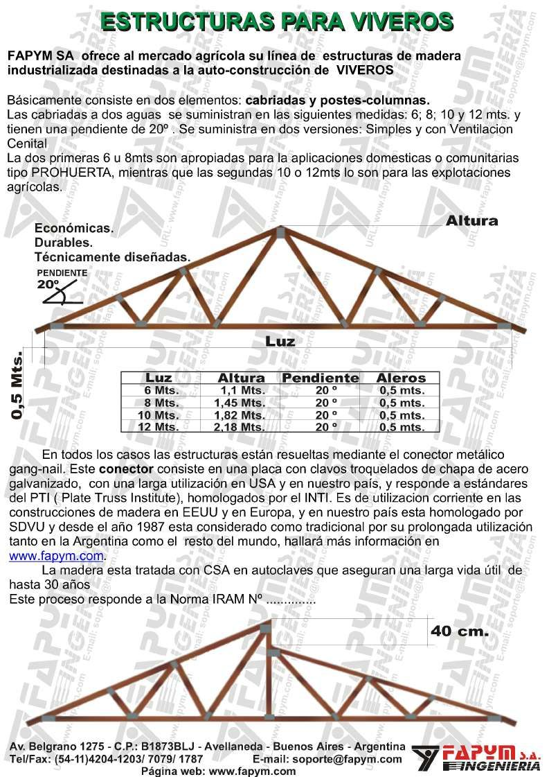 Estructuras para vivero pinterest vivero for Construccion de viveros