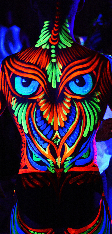 UV Glow Back Paint