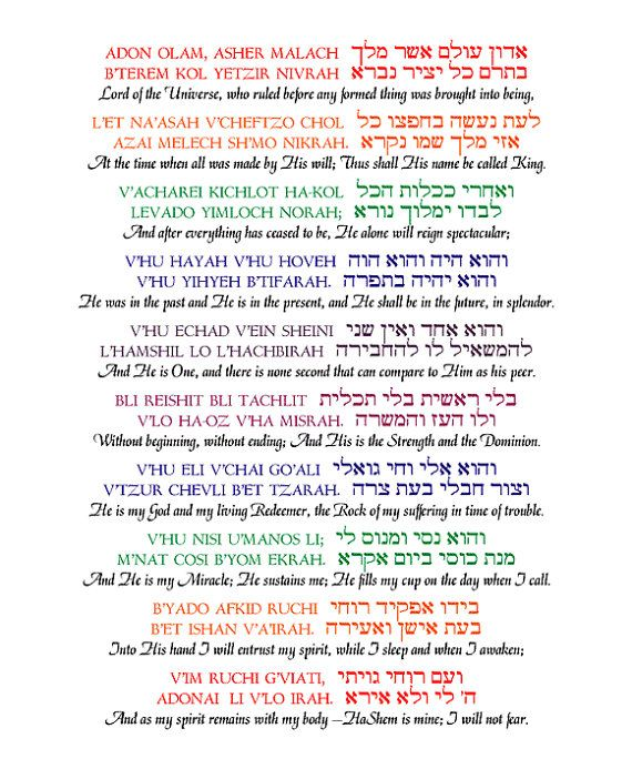 Adon Olam Is One Of The Most Famous And Beloved Jewish Prayers