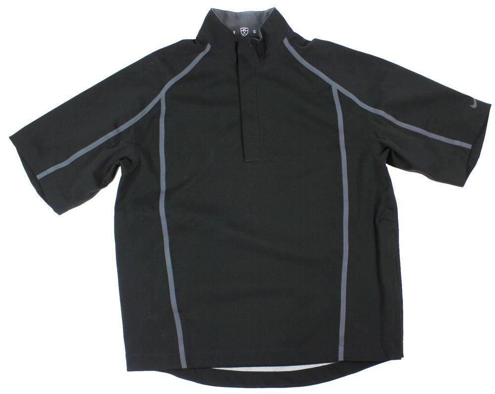 b7d6734d72d9  Nike  Golf  Storm Fit 484133  Men s Black  Waterproof 1 2 Zip Short Sleeve  Jacket M  Nike  Windbreaker