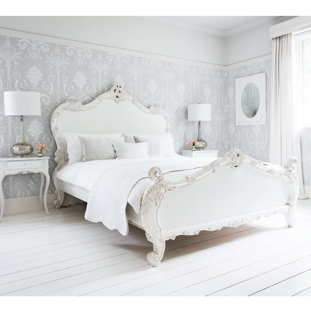 White Shabby Chic Bedroom Ideas: Provencal Sassy White French Bed In 2019