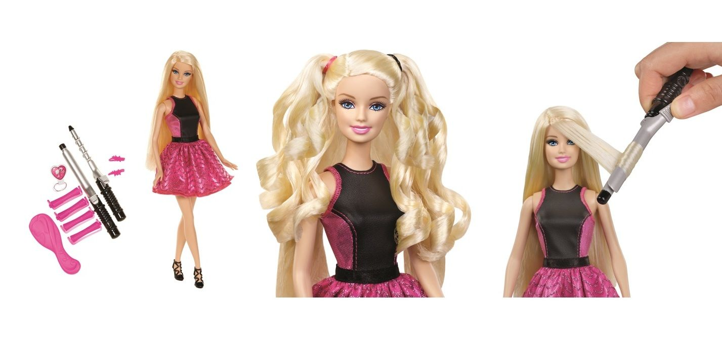 Style Barbie Doll S Hair Like Never Before With The Barbie Endless Curls Doll For The First Time Curl Her Entire Head Of Long Doll Hair Barbie Barbie Dolls