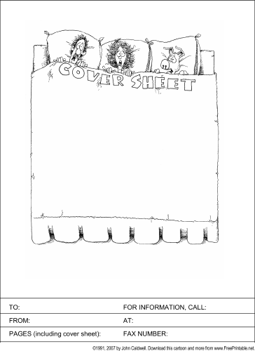 This Funny Printable Fax Cover Sheet Pokes Fun At The Term By