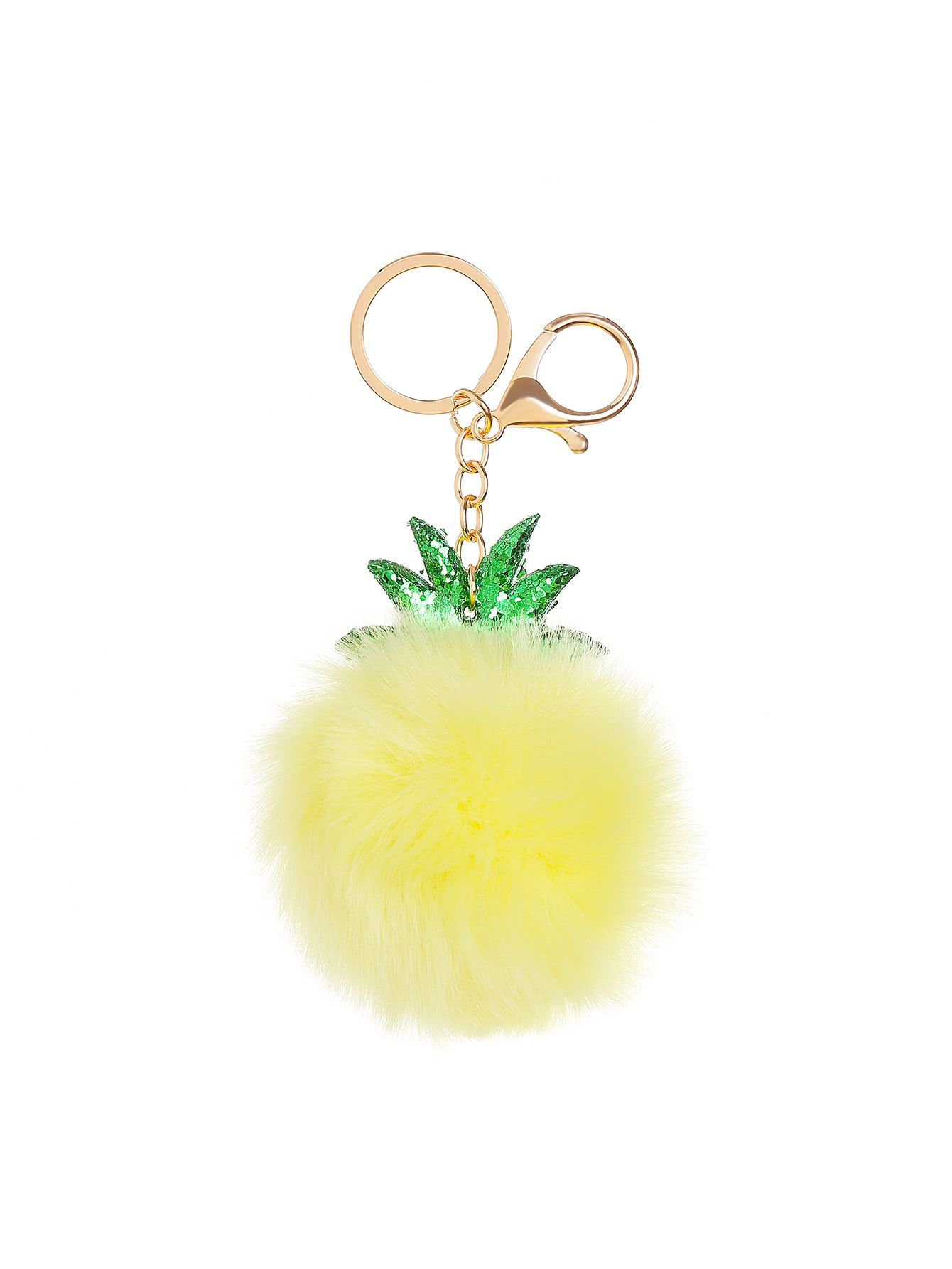 e06b627d1f Shop Pineapple Shaped Keychain With Pom Pom online. SheIn offers Pineapple Shaped  Keychain With Pom Pom & more to fit your fashionable needs.