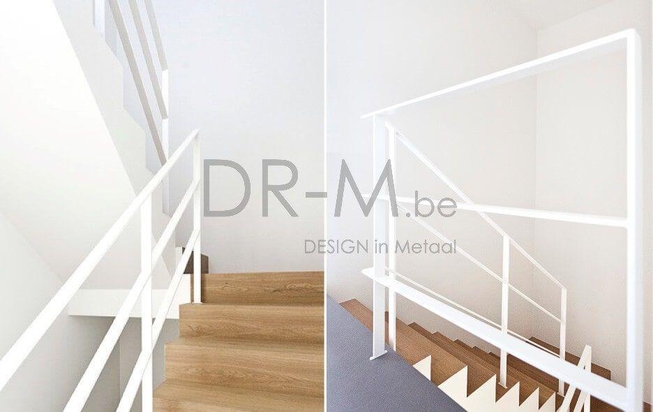 Moderne trapleuning houten trap stair rail pinterest houten