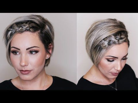 Dutch Braid Hair Tutorial Short Hair Youtube Really Short