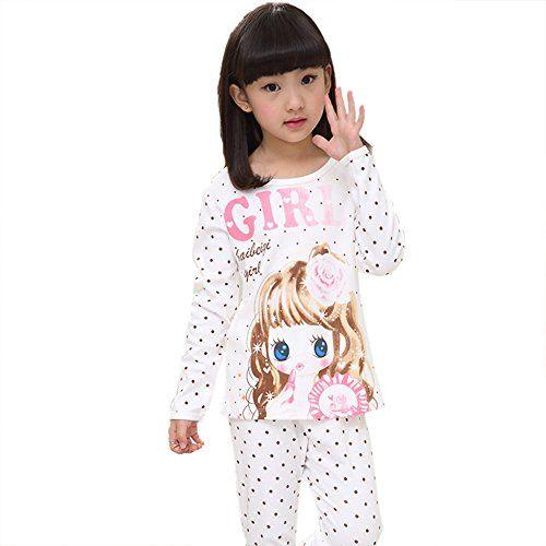 581ca50cbb6e Sangreen Kids Little Big Girls Cute Cotton Loungewear Pajamas Set ...